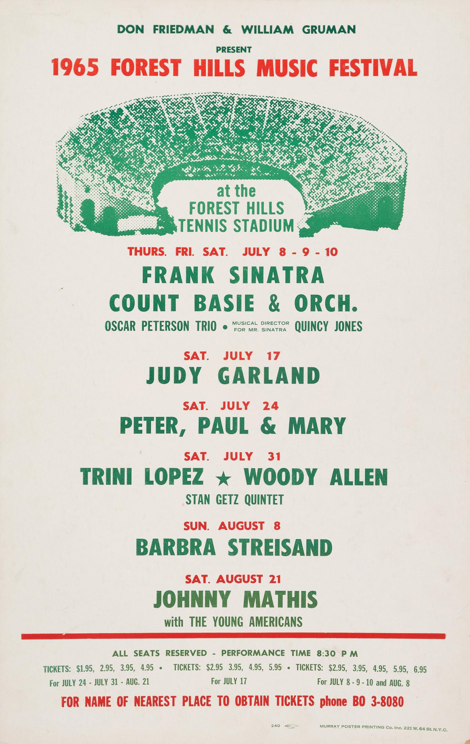 Judy Garland at Forest Hills STadium
