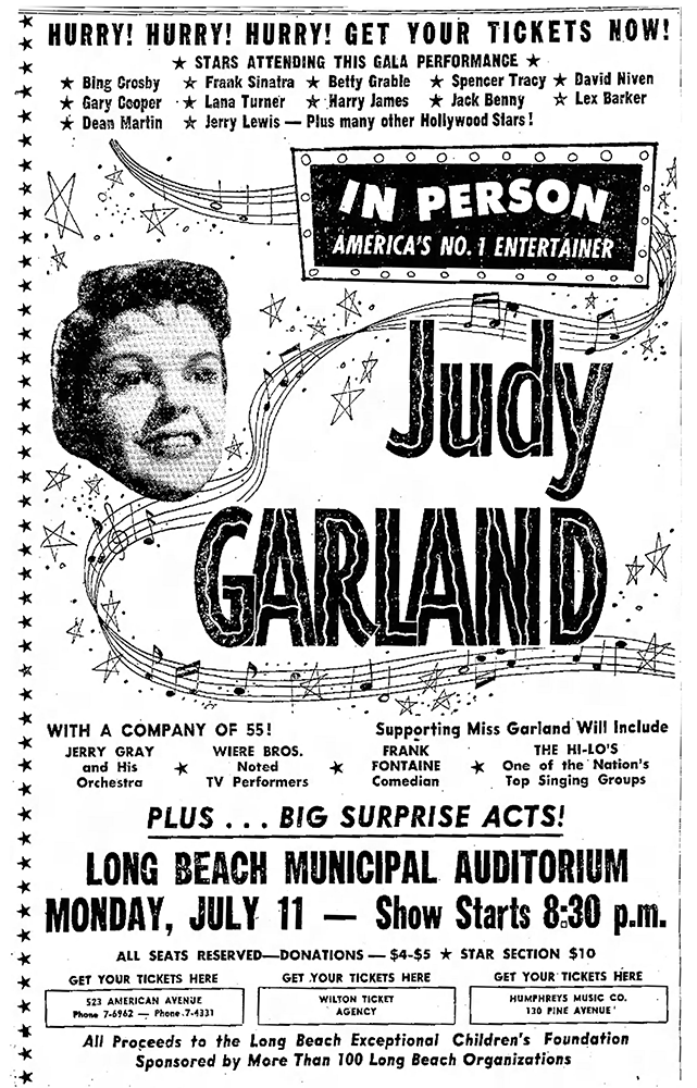 Judy Garland in Long Beach 1955