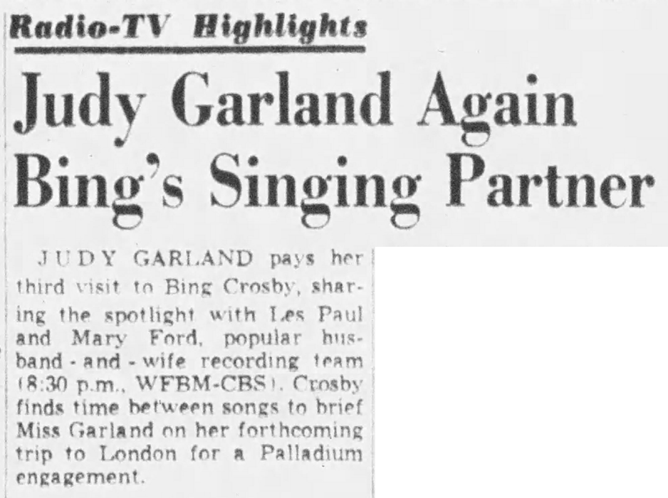 Judy Garland on The Bing Crosby Show