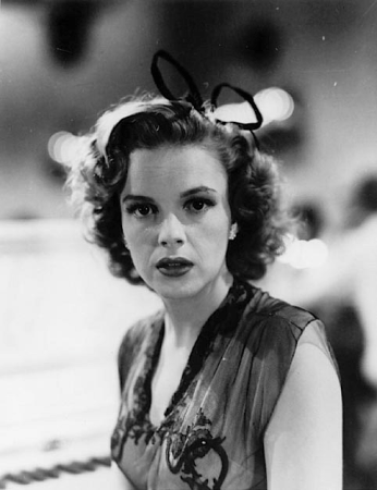 "Judy Garland on the set of ""Girl Crazy"""