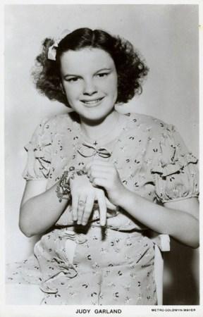 "Judy Garland with her ""Clark Gable"" charm bracelet"