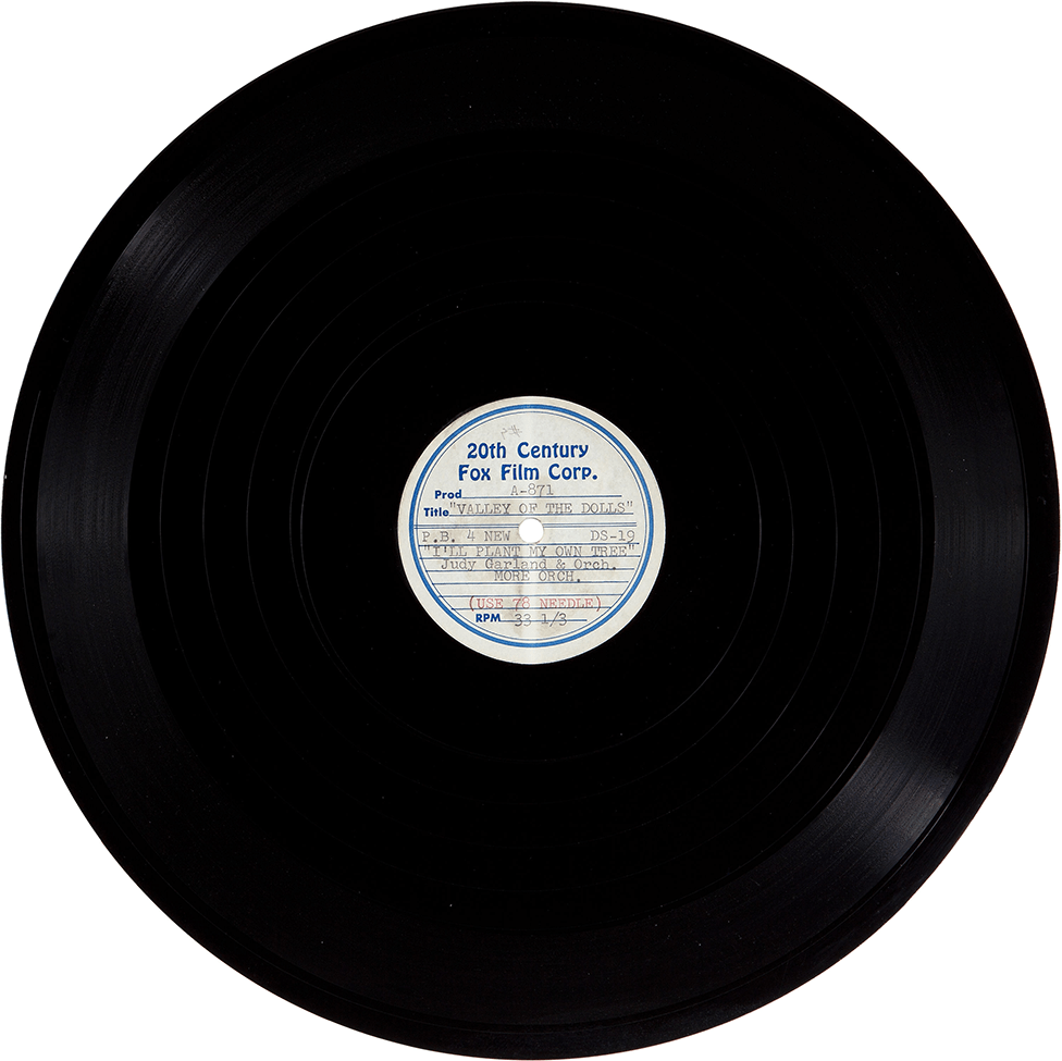 """""""I'll Plant My Own Tree"""" acetate playback record"""