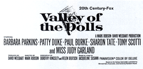 "Early newspaper ad for ""Valley of the Dolls"""