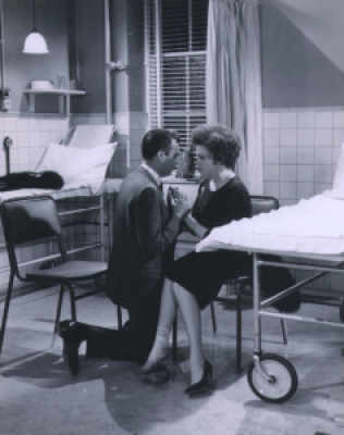 """Judy Garland and Dirk Bogarde in """"I Could Go On Singing"""""""