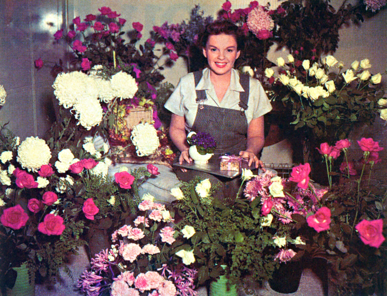 "Judy Garland on the set of ""Summer Stock"""