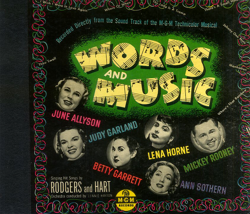 Words And Music original 78rpm soundtrack album