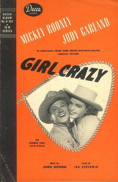 "Insert to the Decca Records cast album of songs from ""Girl Crazy"""