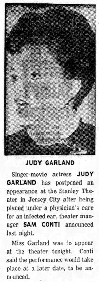 Judy Garland concert postponed