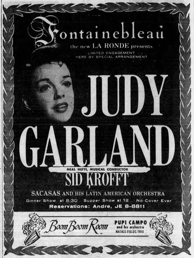 Judy Garland at the Fontainebleau 1959