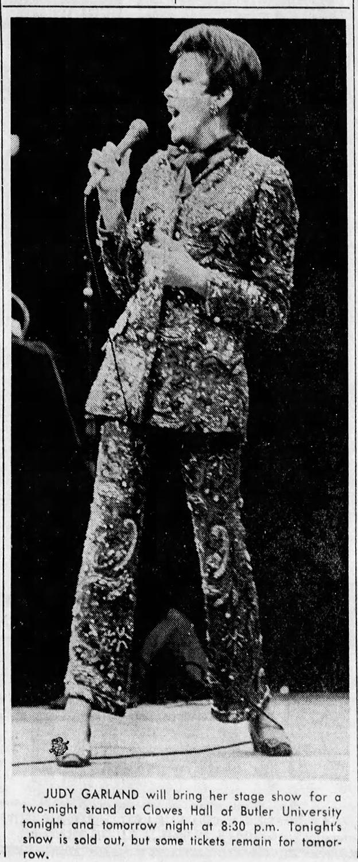 Judy Garland at Clowes Hall 1967