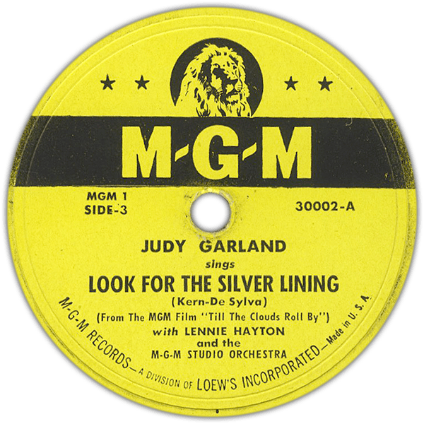 """Look For The Silver Lining"" MGM Records Judy Garland"