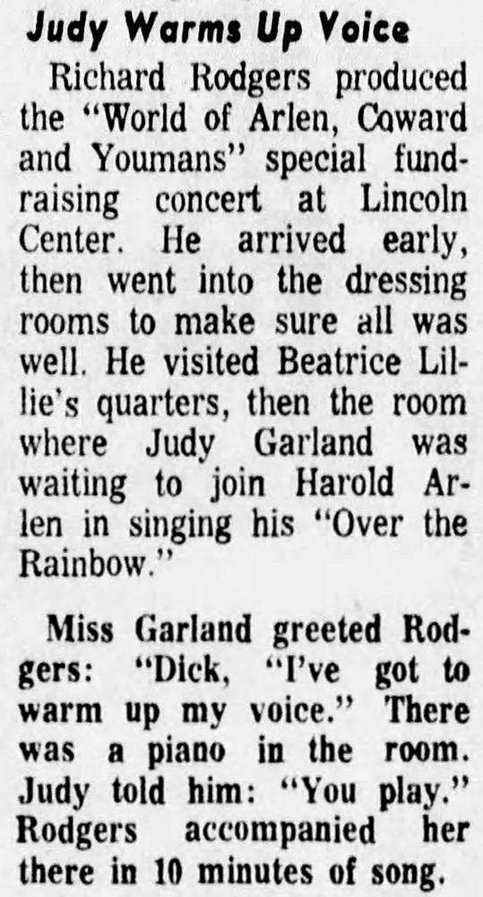 Judy Garland at the ASCAP Salute 1968