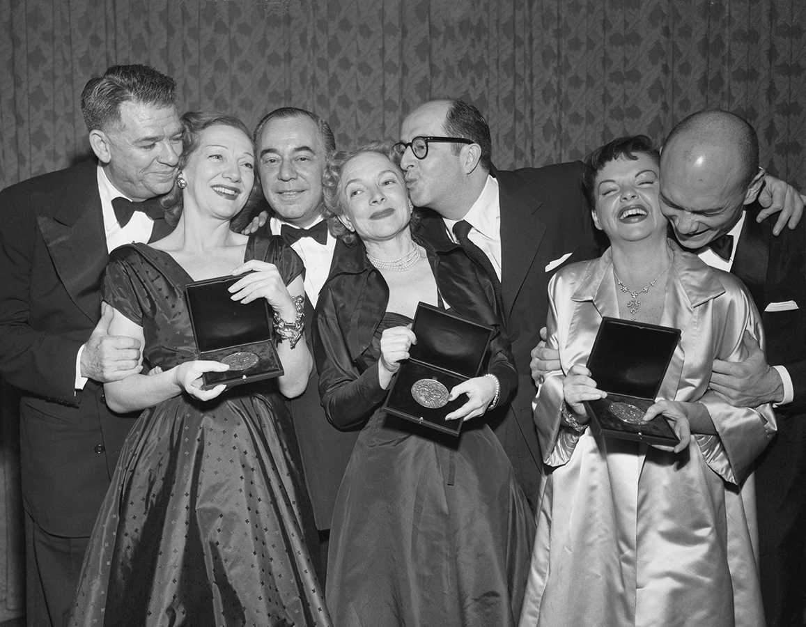 Judy Garland receives the Tony Award March 30, 1952