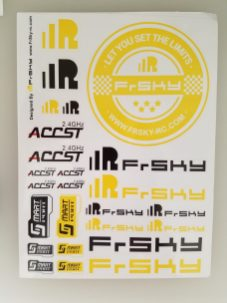 FrSky Stickers included with Taranis X9D Plus Special Edition