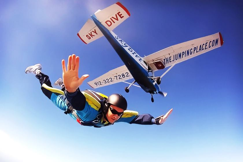 Skydiving at The Jumping Place Skydivnig Center