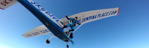 Skydiving Exit at The Jumping Place