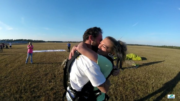 Fall out of an airplane and in love for life