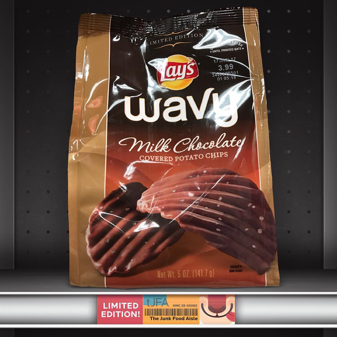 Lay's Wavy Milk Chocolate Covered Potato Chips
