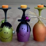 Halloween Wine Glasses Candle Holders The Keeper Of The Cheerios