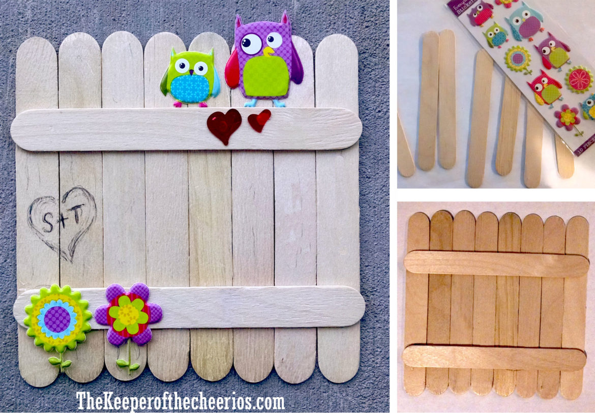 Owls On A Fence Valentine Craft