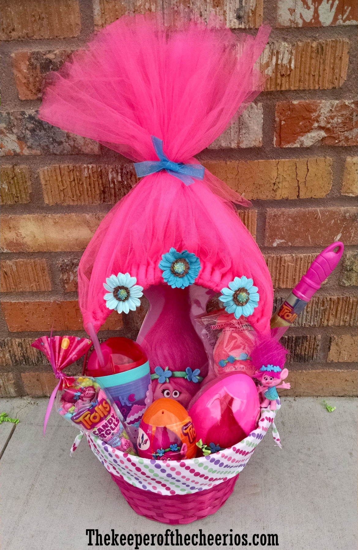 Six easy creative easter basket ideas hip2save any trolls fan would love this fun trolls movie themed easter basket so cute get the directions here negle Images