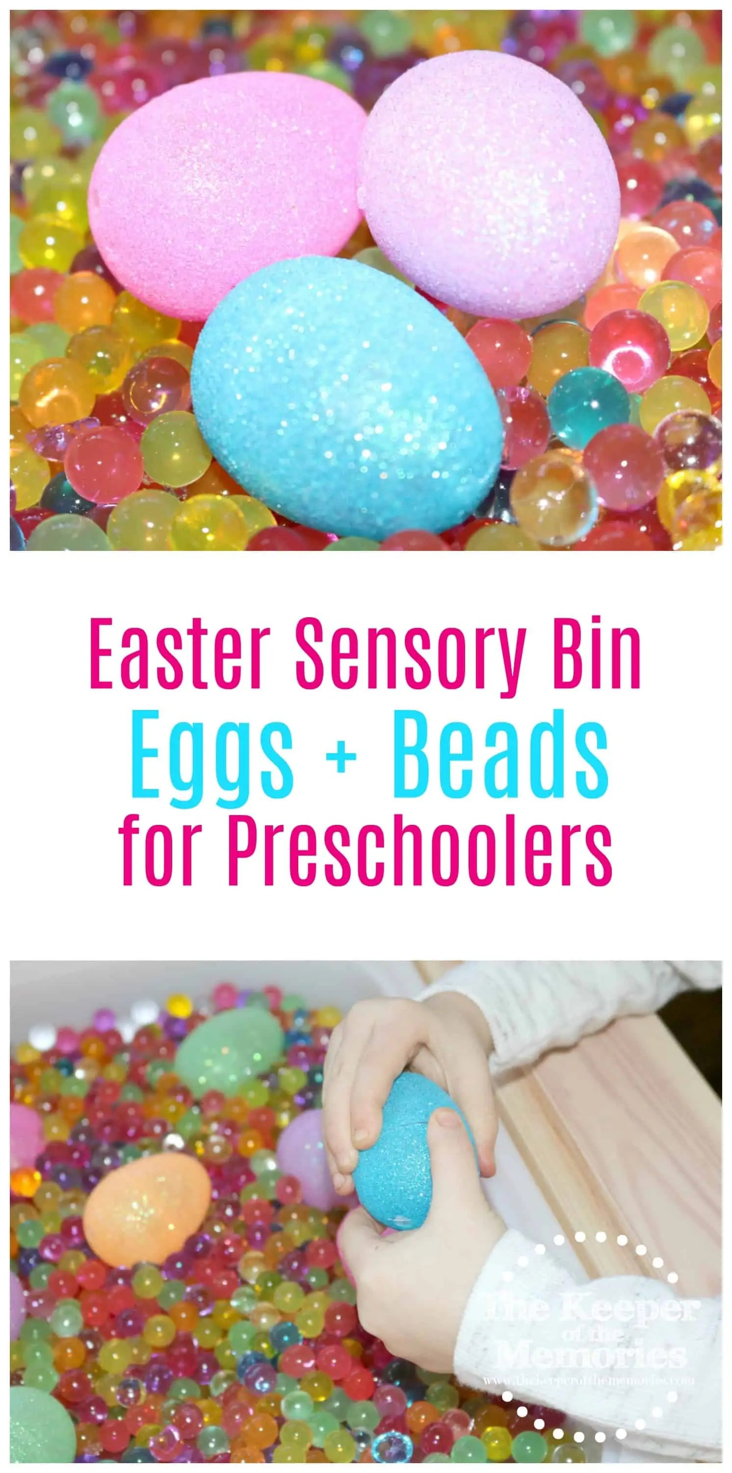 Plastic Eggs Water Beads Easter Sensory Activity 3