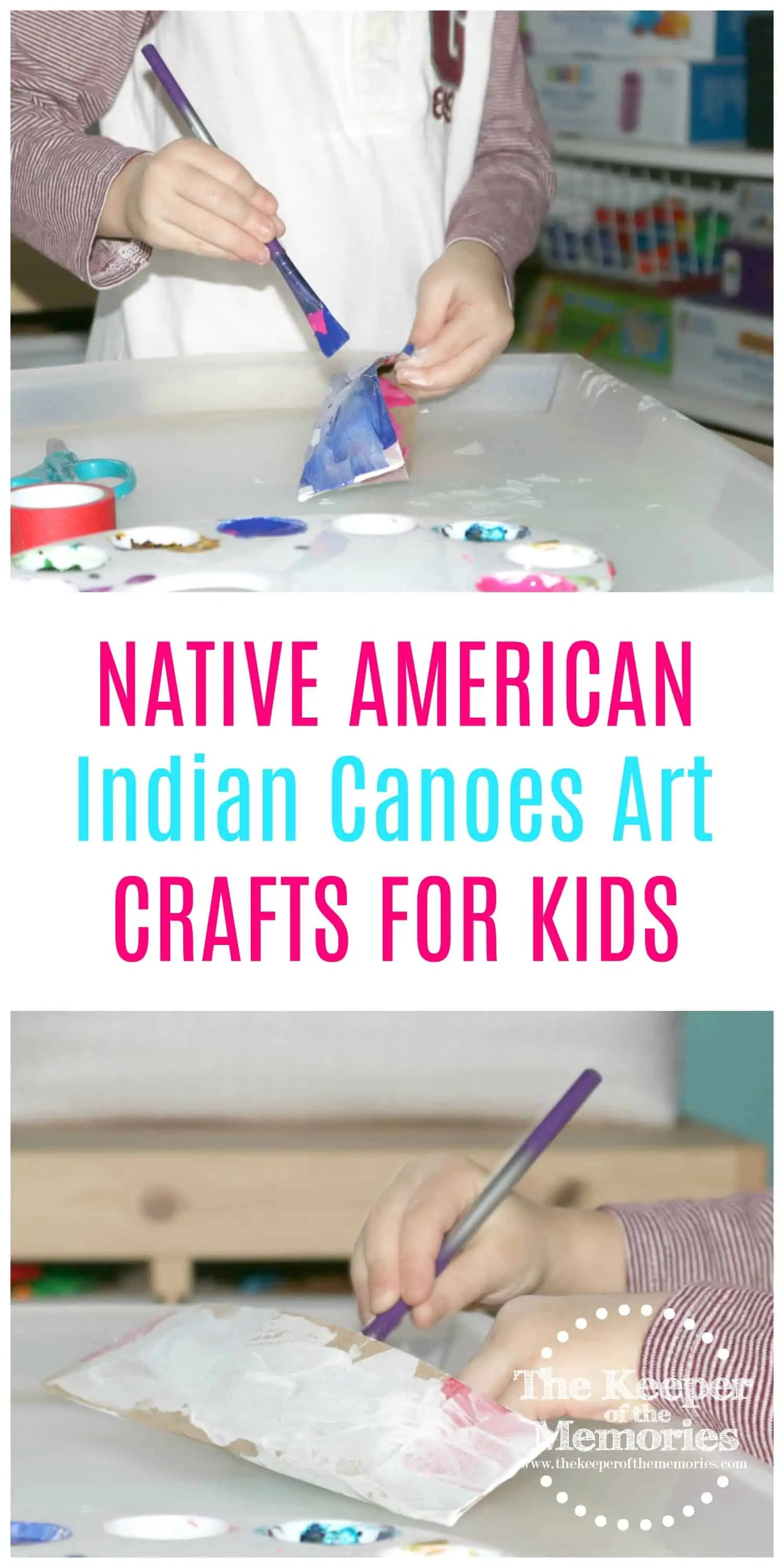 Native American Crafts For Kids Indian Canoes Art 1