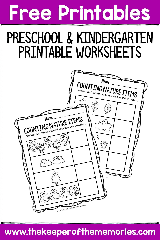 Free Printable Preschool And Kindergarten Worksheets