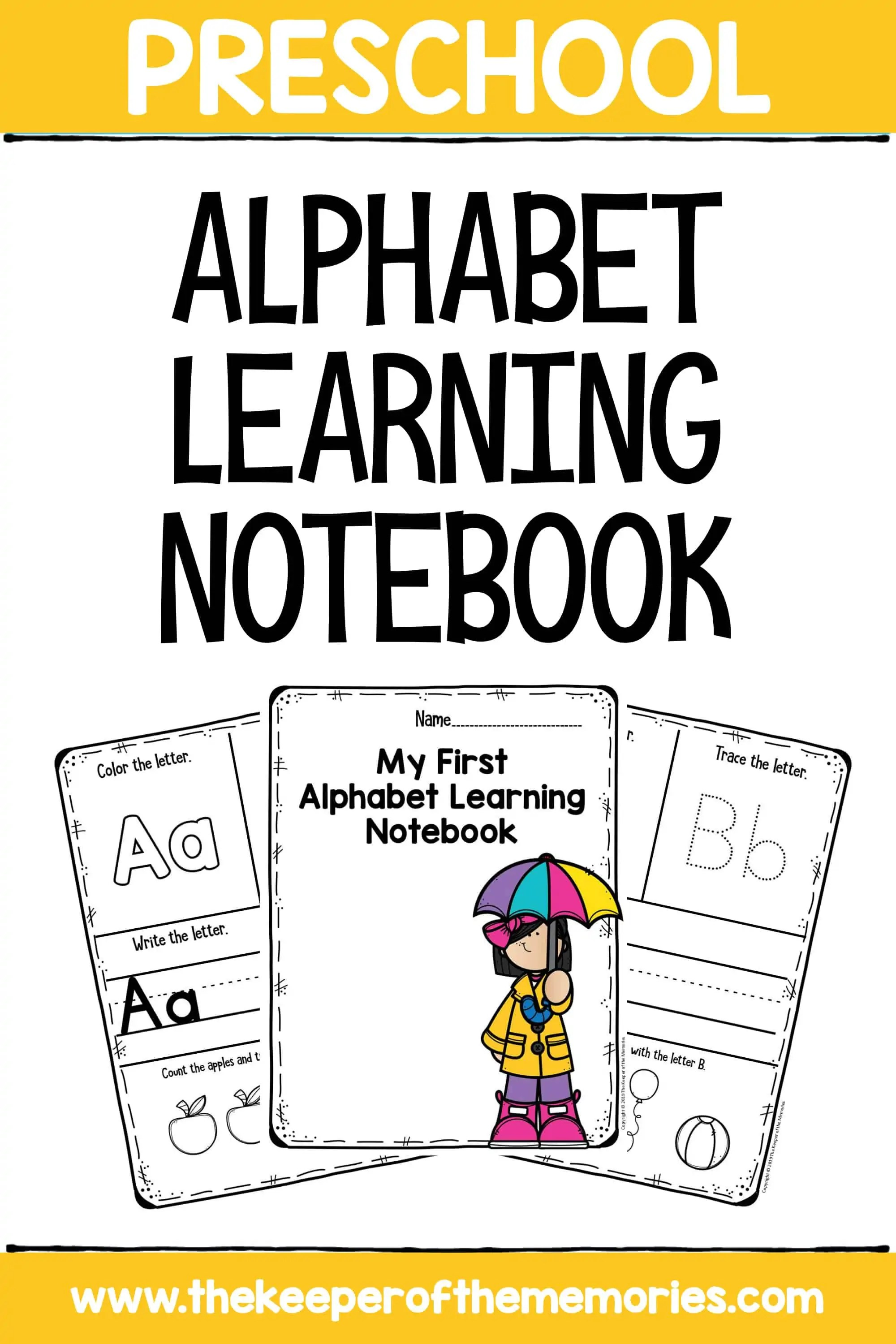 Preschool Alphabet Learning Notebook