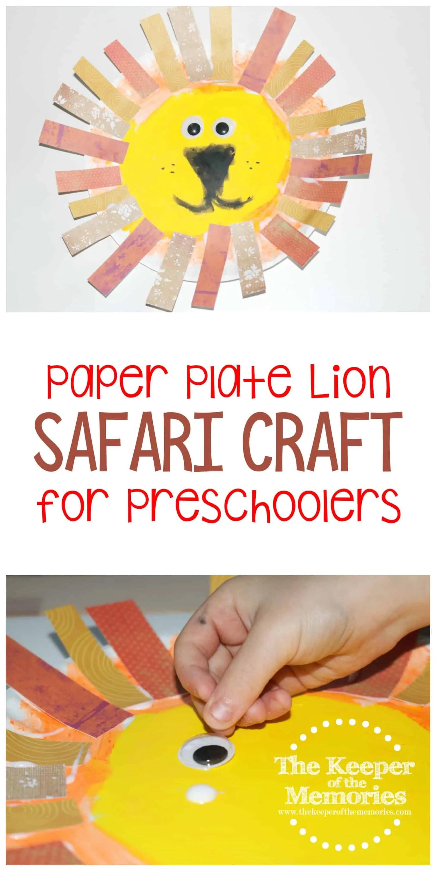 Paper Plate Lion Safari Craft For Preschoolers