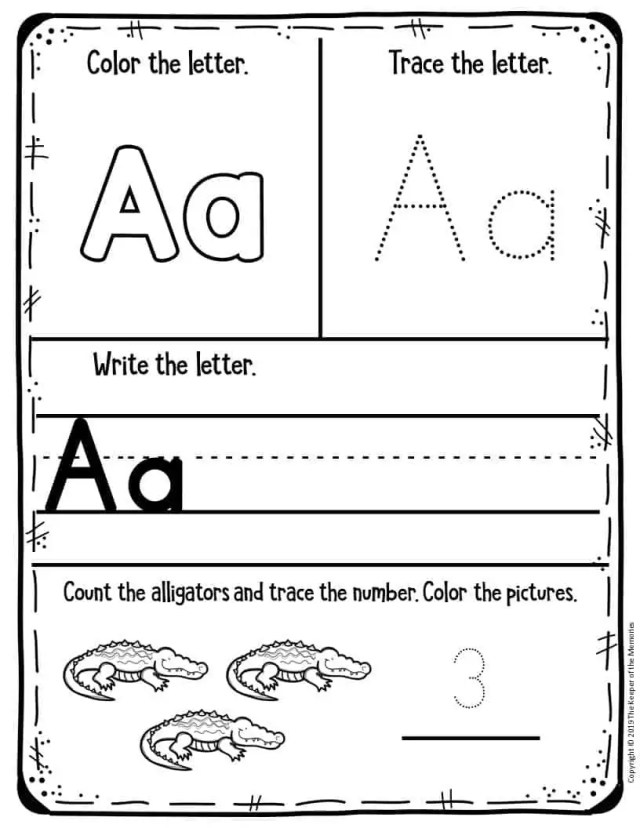 Preschool Worksheets Letter A The