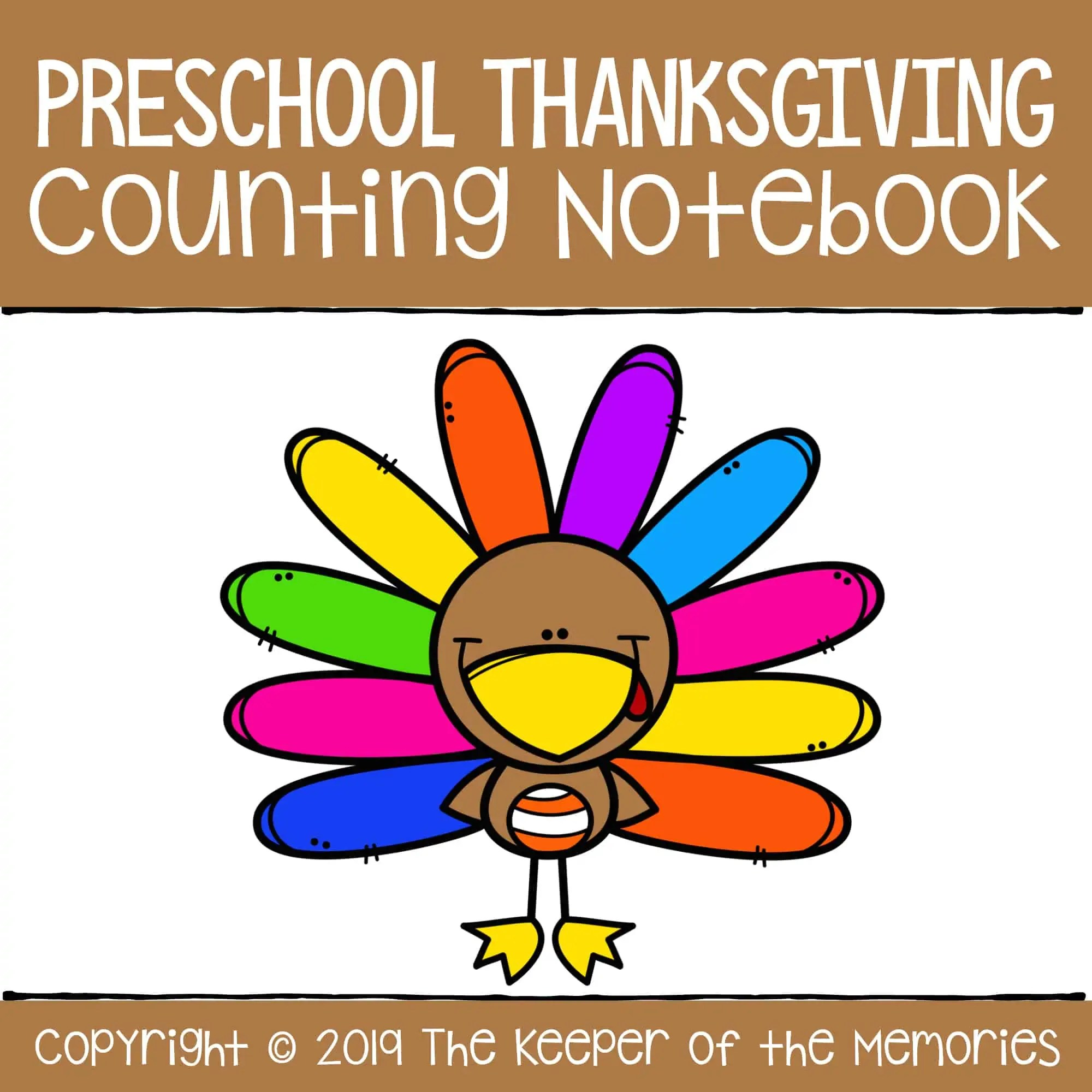 Preschool Thanksgiving Counting Notebook Number Worksheets