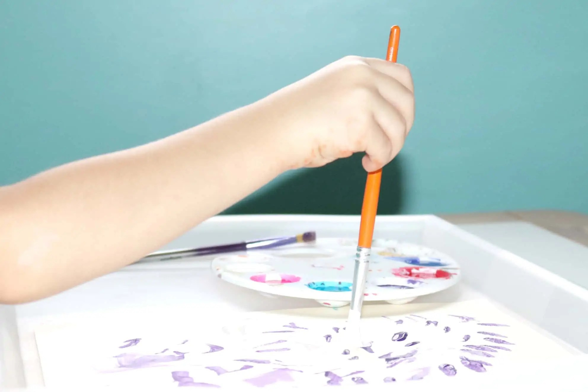 Dancing Paintbrush Process Art 4