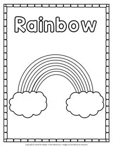 Free Printable Rainbow Coloring Pages The Keeper Of The Memories