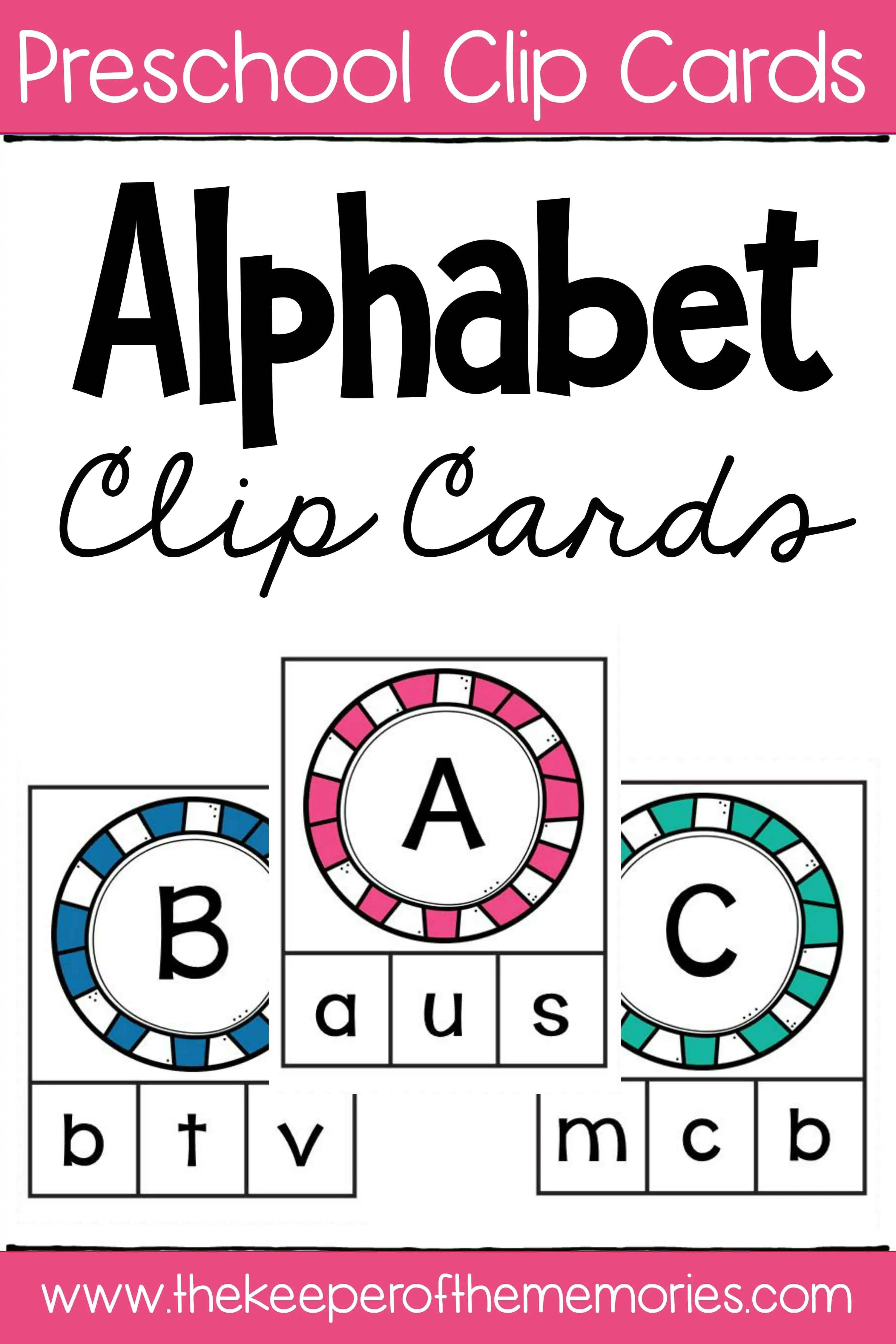 Alphabet Clip Cards Matching Capital Letters To Lowercase