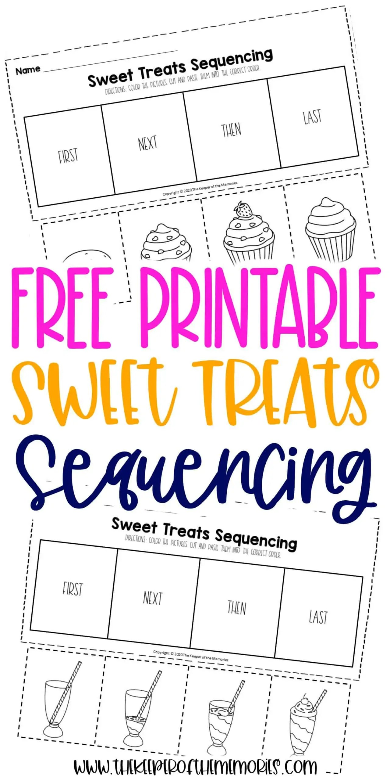 Free Printable Sweet Treats Sequencing Worksheets For
