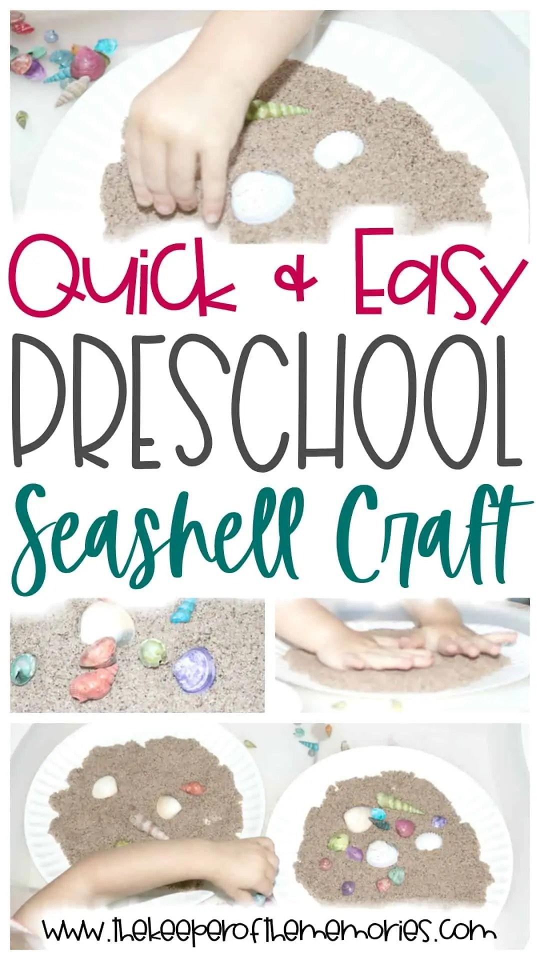 Seashell Preschool Craft
