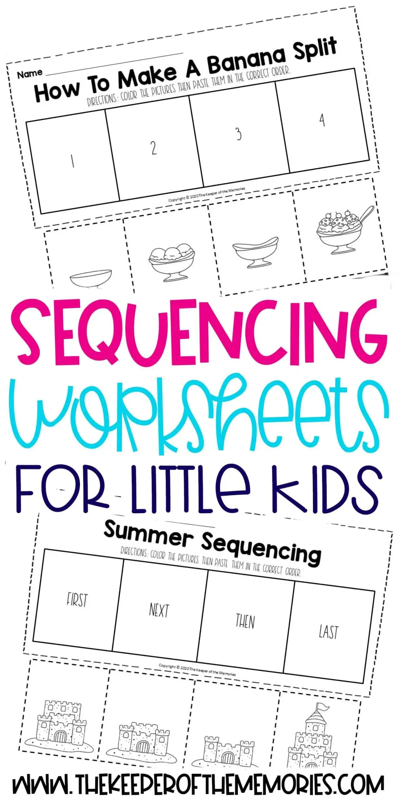 Sequencing Worksheets For Little Kids