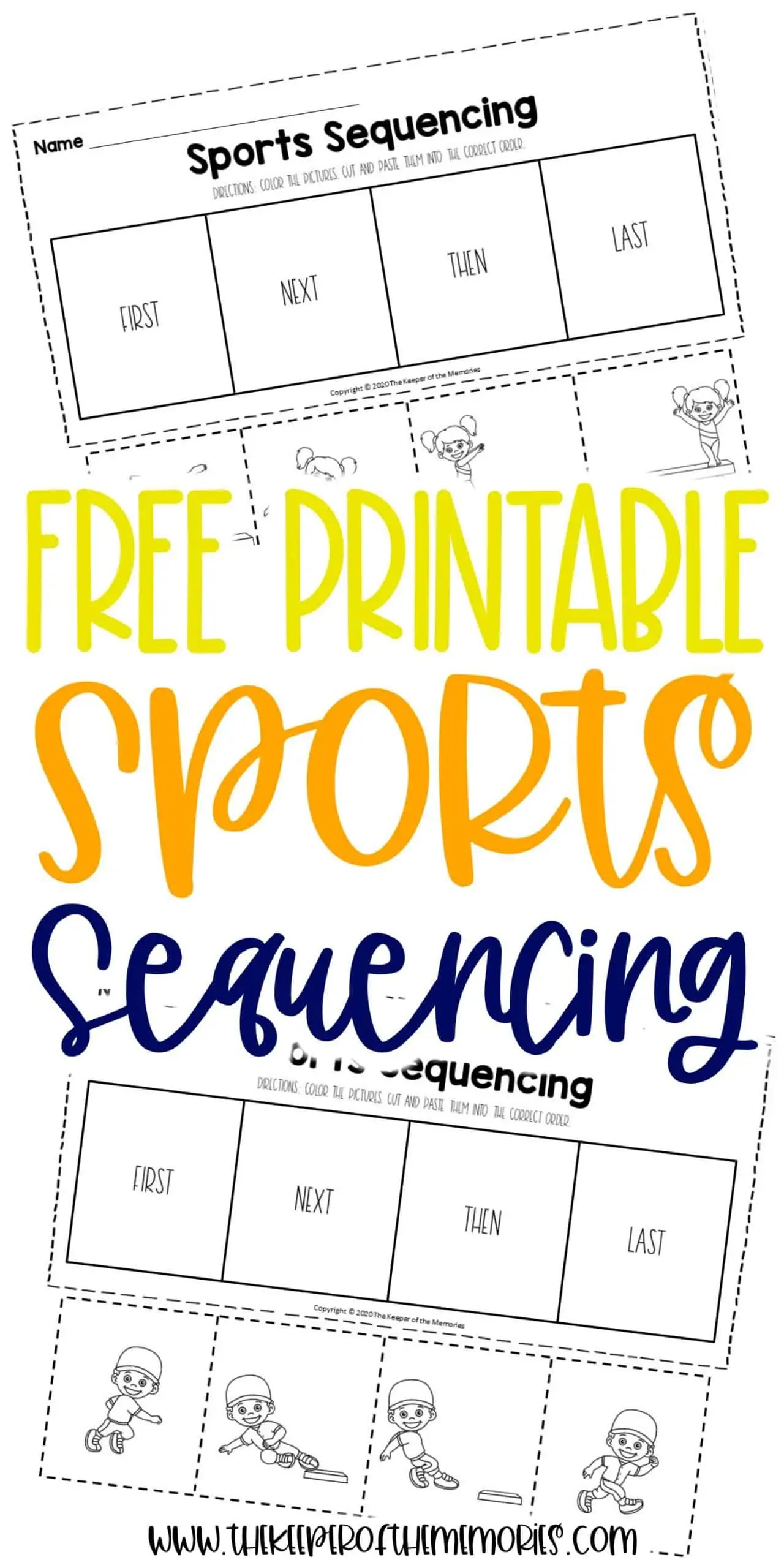 Free Sports Printable Sequencing Worksheets