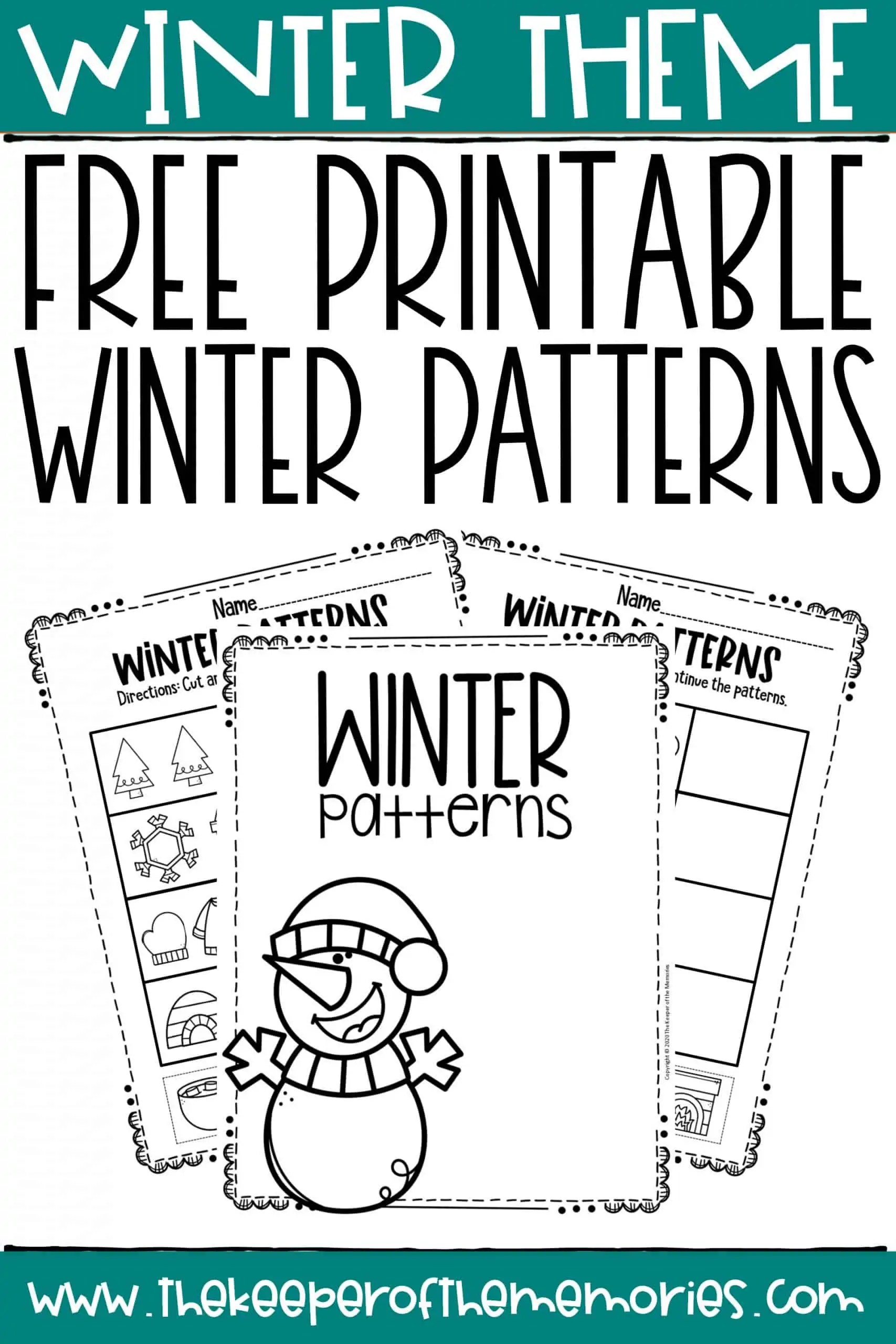 Free Printable Patterns Winter Preschool Worksheets
