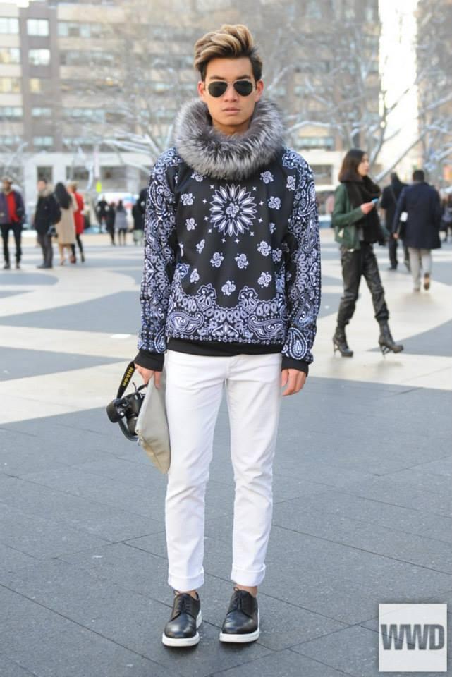 Alexander Liang of Kenton Magazine in WWD's Street Style