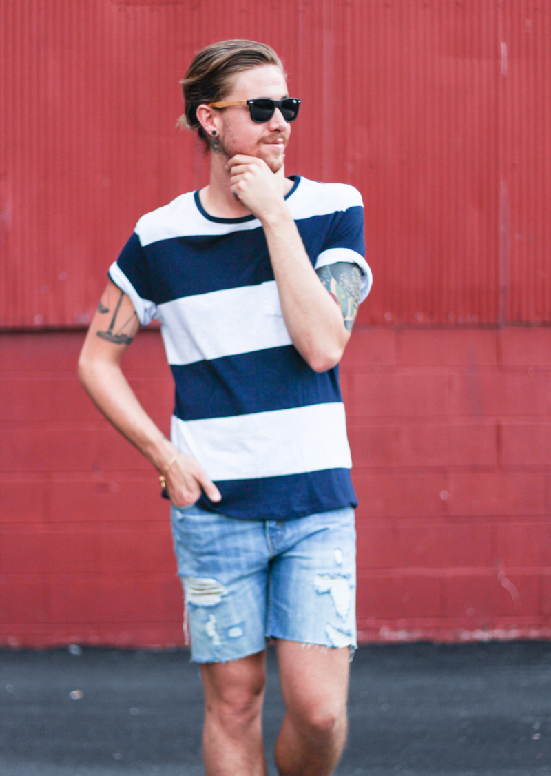 the-kentucky-gent-hammock-palms-sunglasses-hm-striped-t-shirt-levis-cut-off-shorts-zara-sandals-7