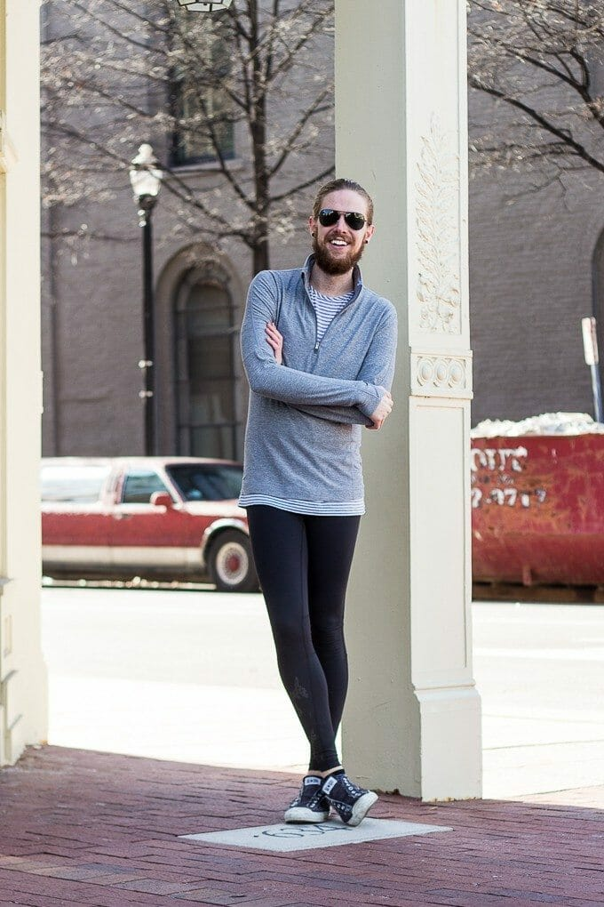 The Kentucky Gent, a Louisville, Kentucky based men's life and style blogger, started his new year off with 108 sun salutations in lululemon gear.