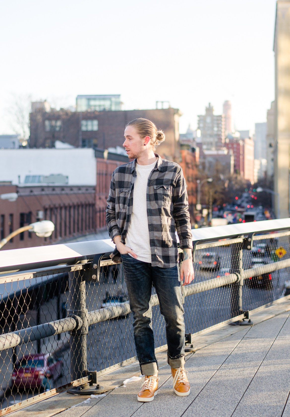 The Kentucky Gent, a men's fashion and lifestyle blogger, hangs out at the Highline during NYFW.