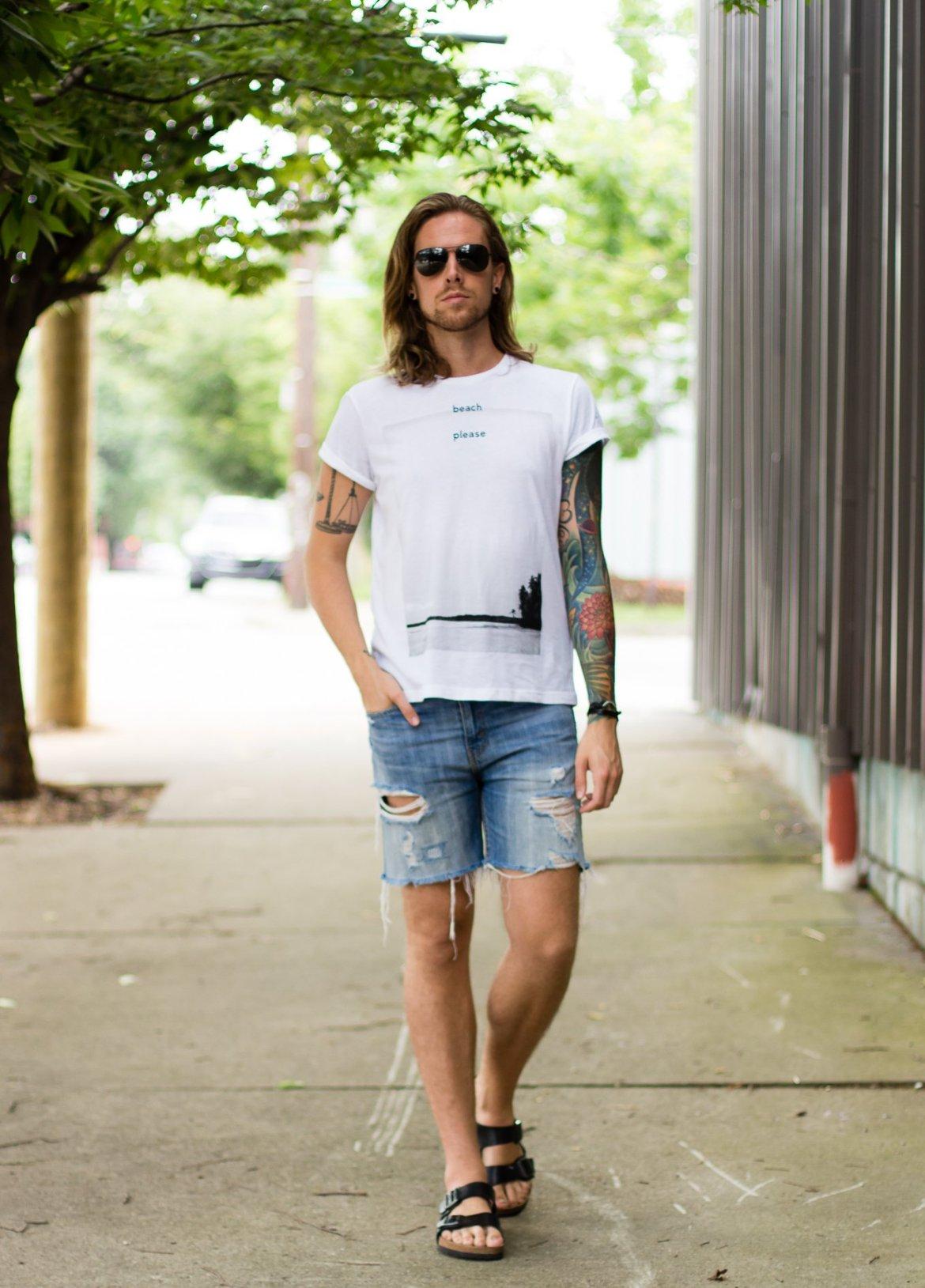 hm, hm summer, whatever usa, levis denim shorts, mens fashion