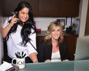 Marisa Dortona and Christine Bungert, Receptionists