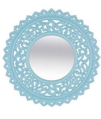 Retro Blue Mirror from Jabong.com online shopping