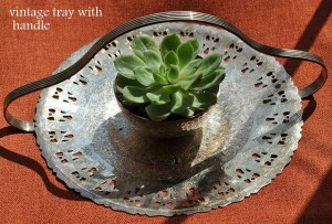 Antique silver tray - festive collection