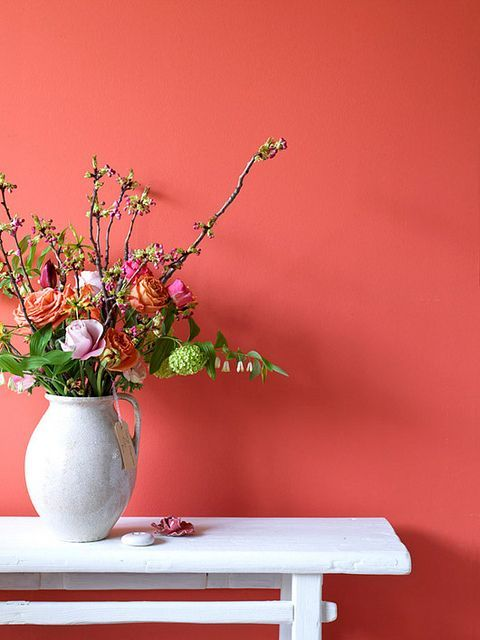 Use Living Coral color on walls