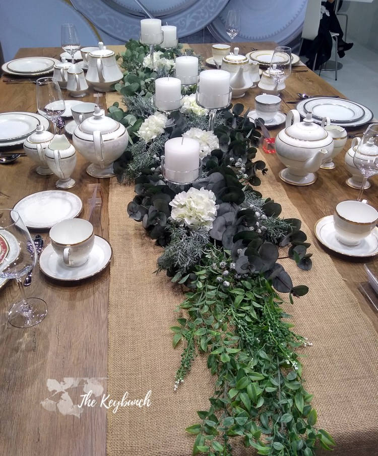The collection of tea sets on table showcases at Ambiente trade fair 2019 in Messe Frankfurt